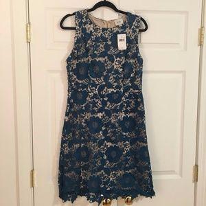 ECI Floral Lace Dress Dark Teal
